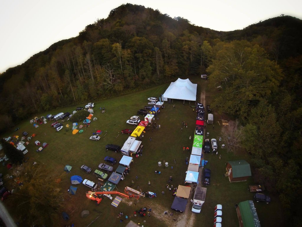 aerial photo of Rocktoberfest event grounds