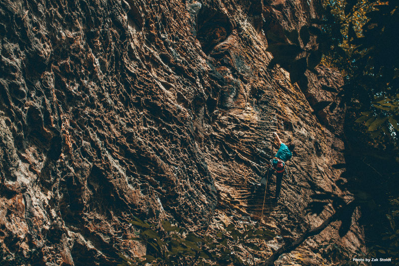 Photo of a climber climbing in the MFRP by Zak Stoldt